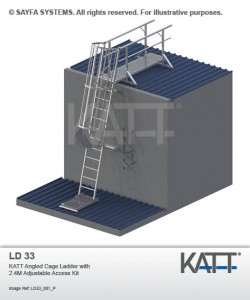Katt Cage Ladder with Adjustable Access (LD 33)