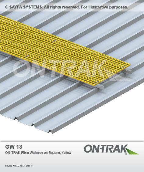 On-trak Fibre Walkway on Yellow Battens (GW 13)