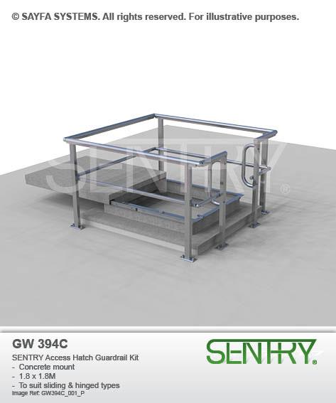 Sentry Access Hatch Guardrail Kit (GW 394C)