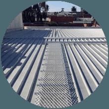 Roof walkway example