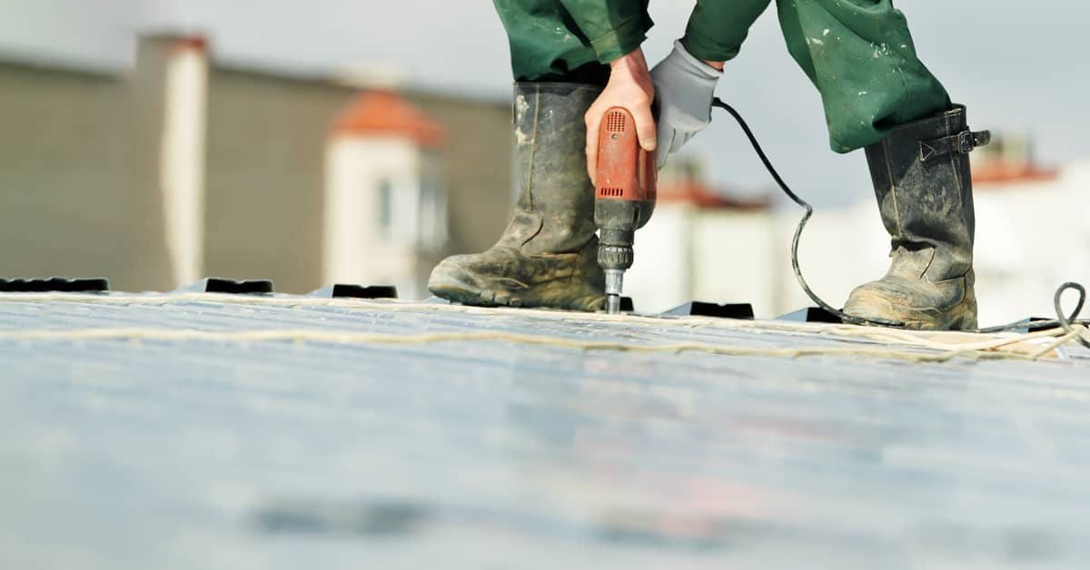 Installing a Roof Walkway System