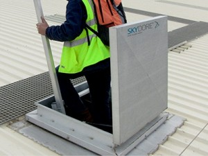 A Roof Access Hatch.