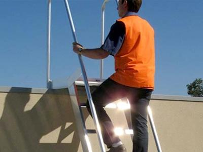 Roof step ladder